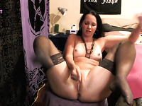 Amateur MILF Rubbing Pussy and Ass On Cam