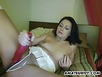 Small dick boyfriend shows up for a webcam blowjob