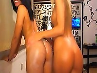 Two Girls Playing with Webcam