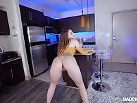 Seductive babe Gia Derza teases with her ass before having sex