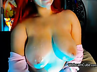 Racy Amateur Femme Fatale With Large Boobs
