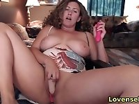 horny mature stepmom orgasms twice live