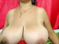 Damn sexy oiled voluptuous anon nympho teased me with her huge melons