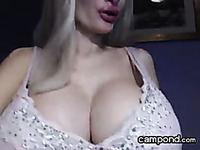 Enticing Busty Blonde Floozy