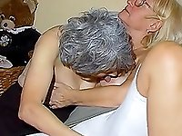 Amateur mature lady and horny grandma enjoying sexual games together