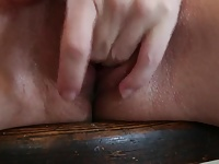Erect clit play