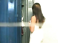 Hidden cam captures sexy girl changing in a locker room