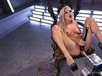 Famous bitch Cameron Dee enjoys testing crazy sex machine
