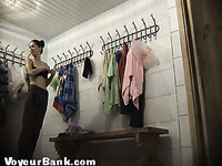Sweet and sexy lovely girls in the locker room filmed nude