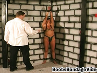 Amateur slim brunette brutal bondage basement foreplay with casting director