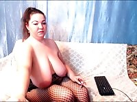 Naked chubby mature smoking