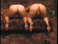 two fat ass women masturbating on the couch