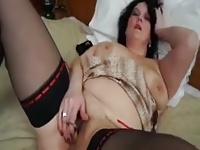 BBW Masturbates With A Bottle Opener