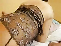 Amateur blindfolded light haired wife gives a super stout blowjob