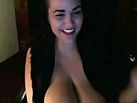 Wonderful alluring cam beauty had an idea to show me her boobies
