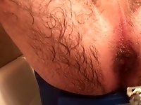 Little Blue Chair - Young Girl Shaves Old Hairy Ass