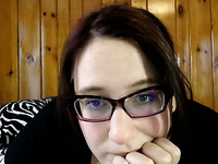 Chubby brunette MILF in glasses was chatting with my buddy on webcam