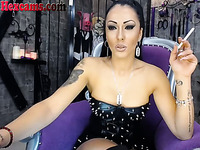 This hot smoking European webcam model deserves to be worshipped