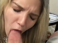 My loyal GF loves sucking dick and she just forgets the camera is on her