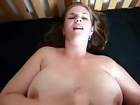 Juicy jugged hottie sucking massive cock in amateur POV video