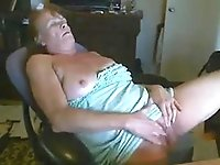 granny Paula masturbates for 22 years old student