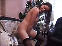 Dirty European amateur girl masturbates with a bottle