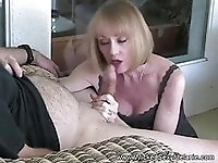 Late Nite Party GILF In Her Dress Blowjob