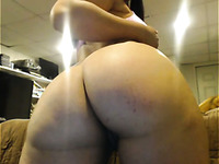 Perfect all alone webcam brunette babe was demonstrating her nice booty