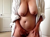 I woke up horny and  soon found myself on my knees in my bedroom masturbating