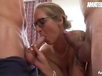 """AmateurEuro - Super Hot Mature German Mom Shared Between Best Friends"""