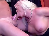 Blonde mature likes to fuck with her horny neighbor in many ways