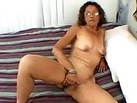 Depraved all alone amateur mature slut is happy to fingerfuck her own twat