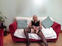 Granny Lady Sextasy teases her audience and shows off her body