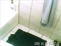 Spy cam filmed my aunty taking shower in the bathroom