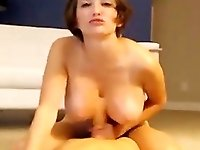 Wanna watch this Naughty Busty Babe as she rides her toy like a cowgirl.