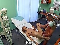 Adorable girl fucked by her doctor and filmed in secret