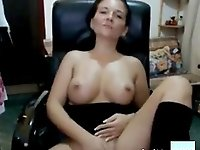 Mature almost gets caught by man getting nasty on livecam