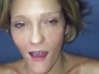 Dirty slut facial