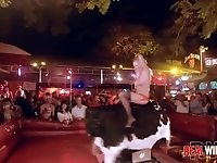 Slutty Bull Riding Naked Coeds 2 UNCENSORED