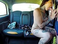 Amateur back seat porn in real life fake taxi fetish