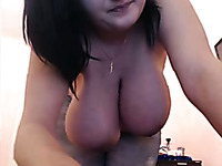 Voluptuous BBW GF takes her clothes off on webcam