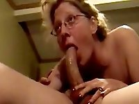 Mature gave her partner an awesome massive deep throat blowjob