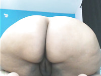 Lewd amateur bitchie nympho was ready to expose her flabby fat ass