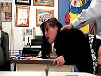 ucking the secretary doggystyle and bent over the desk in the office at college on hidden cam.