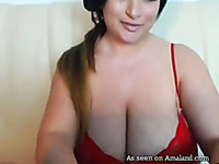 Fantastic latian BBW beauty with huge knockers chats on webcam